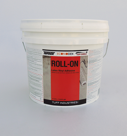 Econodek Roll-On Latex vinyl adhesive for vinyl decking