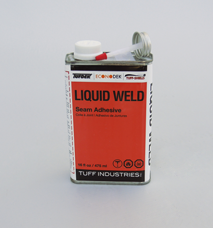 Econodek Liquid Weld Seam Adhesive for vinyl decking