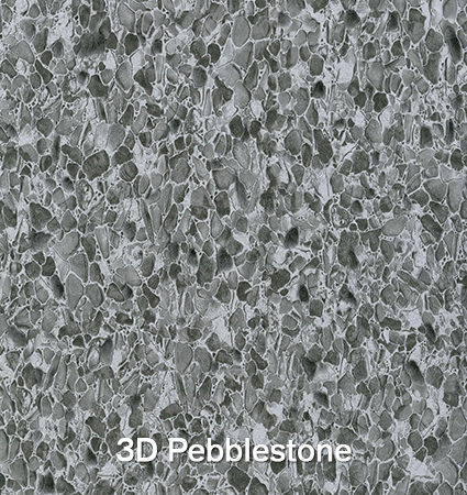 Econodek 3D Pebblestone Vinyl Decking Sample