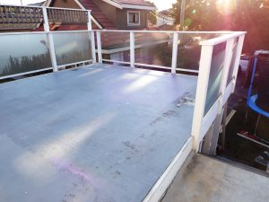 check over vinyl deck for safety