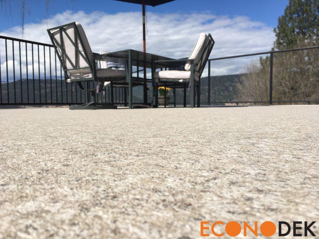 Finished outdoor vinyl flooring