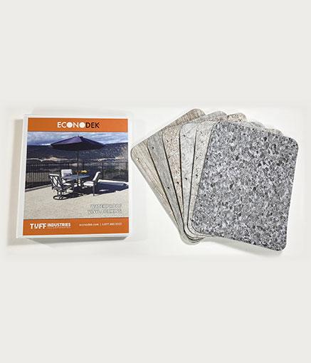 Vinyl deck flooring samples with brochure - small image