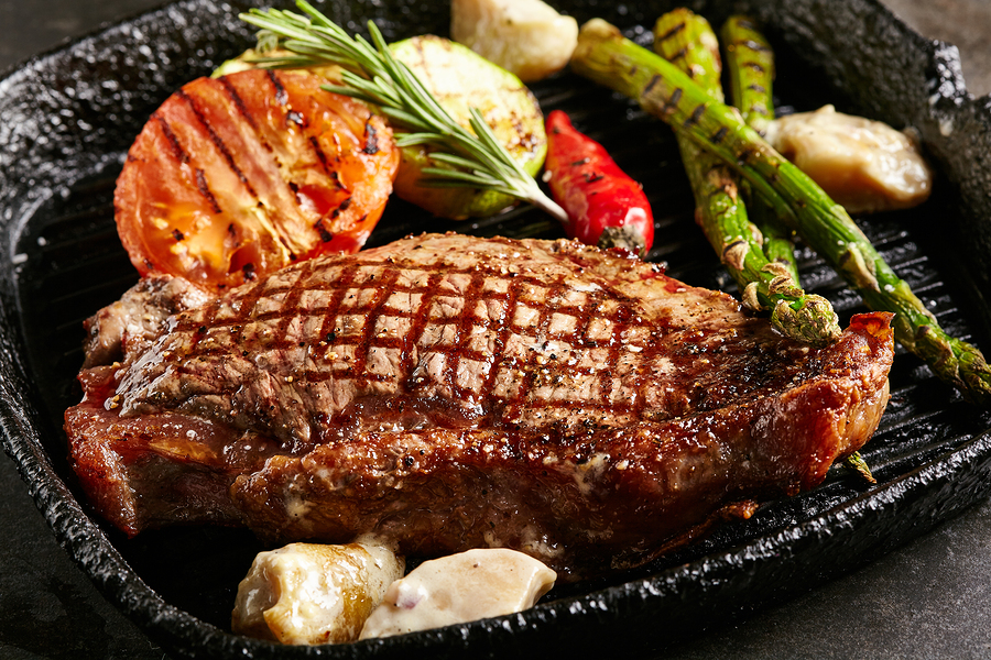 BBQ Grilled Steak Meal